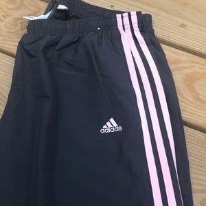 Women's Gray/Punk Adidas Track Pants / Size Large